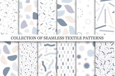 Colorful seamless delicate patterns