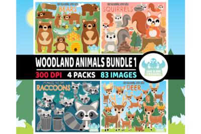 Woodland Animals Clipart Bundle 1 - Lime and Kiwi Designs
