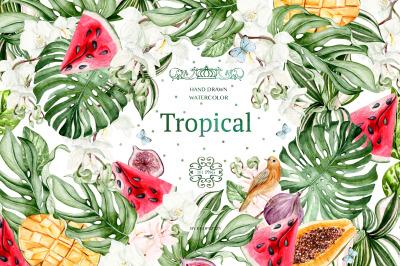 Watercolor Tropical Paradise