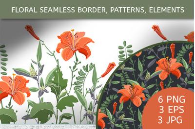 Lilies, daylilies, wormwood, quinoa, coronlla