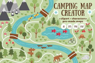 Camping map creator
