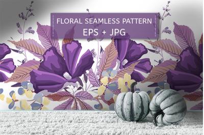 Purple, yellow flowers, sage, salvia
