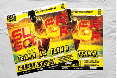 Super Soccer Sports Flyer