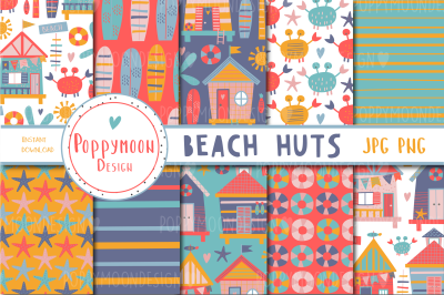 Beach Huts paper set