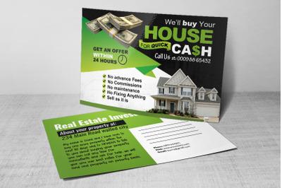Real estate Investors Postcard psd