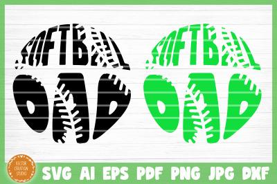 Softball Dad SVG Cut File