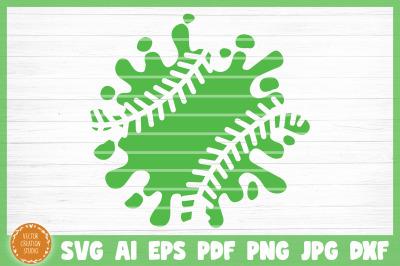 Softball Splash Clipart SVG Cut File