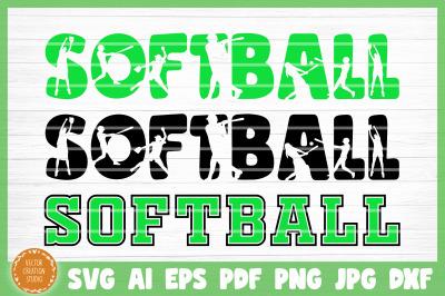 Softball Symbols Word SVG Cut File