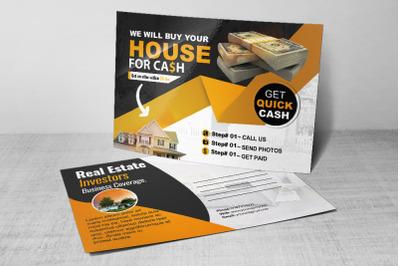 Real Estate Dealers Postcard psd