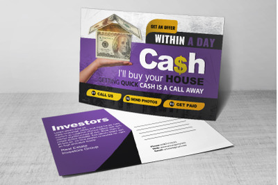 Real Estate Dealers Postcard Template