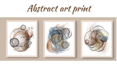 Abstract art printable,  abstract set of 3 prints