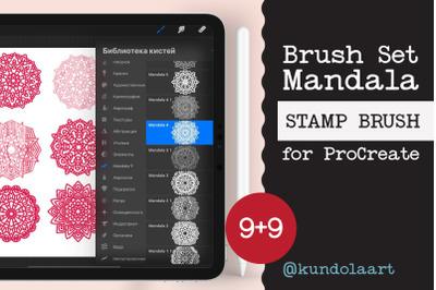 Procreate Brushes. Mandala stamp brushes. Add-on Procreate.