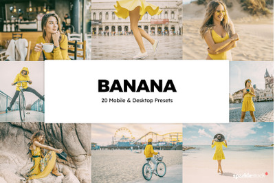 20 Banana Lightroom Presets & LUTs