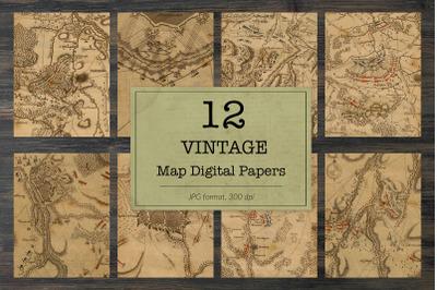 Vintage europe maps