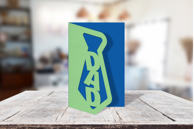 Dad Tie Father's Day Papercut Card   SVG   PNG   DXF   EPS