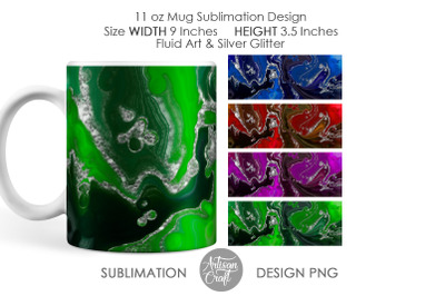 Sublimation mug design templates, 11 oz Mug