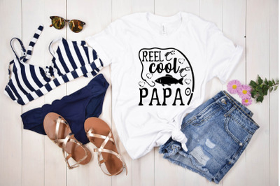 reel cool papa svg design