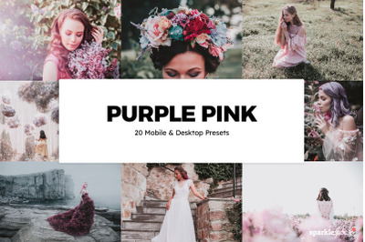 20  Purple Pink LR Presets