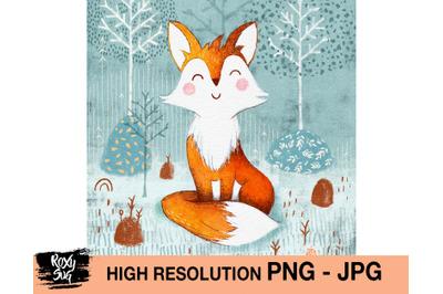 Nursery fox png