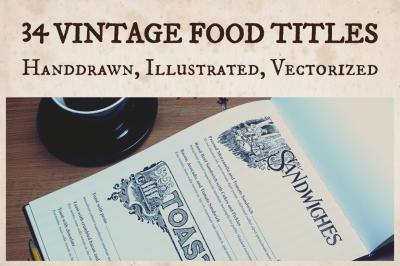 Vintage Food Titles
