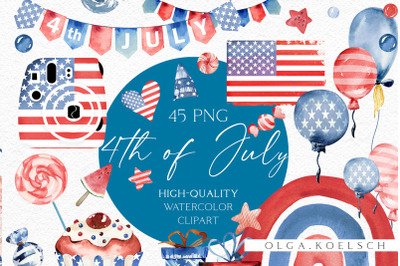 4th of July clipart, American independence day clipart, Labor day clip