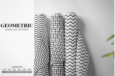 Line Geometric Seamless Patterns