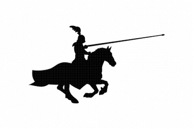 Jousting Knight riding a horse SVG and PNG clipart