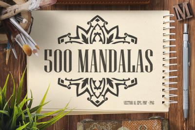 500 Vector Mandala Ornaments