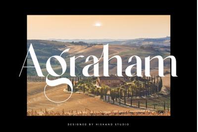 Agraham Serif Typeface