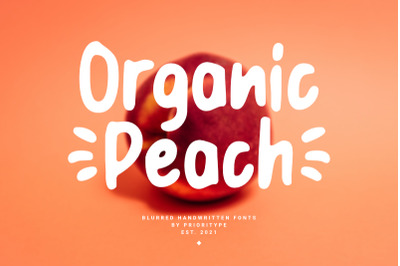 Organic Peach - Blurred Handwritten Fonts
