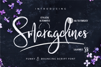 Smaragdines Font + Extras