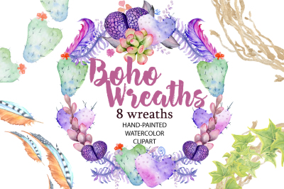 Boho Wreaths clipart