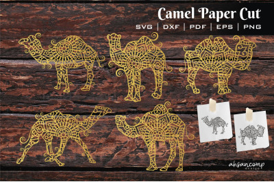 Camel Paper Cut,Template For Cutting