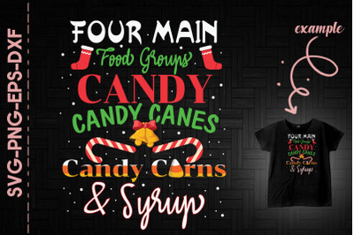 Four Main Food Group Christmas Day