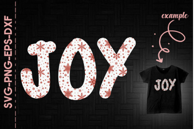 Joy Snow Decor Christmas Day Funny