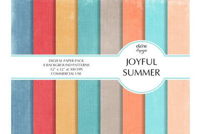 Joyful Summer Digital Paper