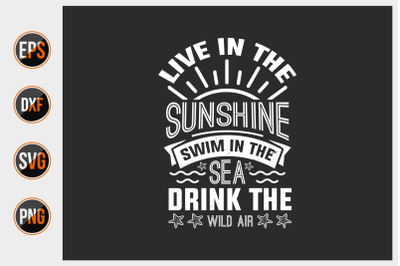 summer quotes typographic vector graphic