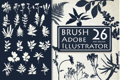 Leaf and Flower Brushes for Adobe Illustrator