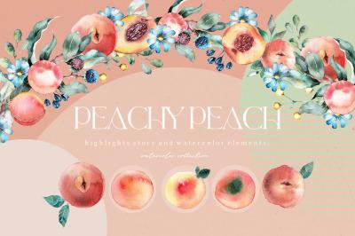 PEACHY PEACH SUMMER Watercolor collection