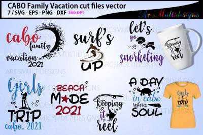 family vacation svg / cabo family bundle