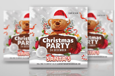Squared Christmas Party Club Flyer