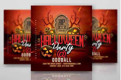 Halloween Night Club Party Flyer