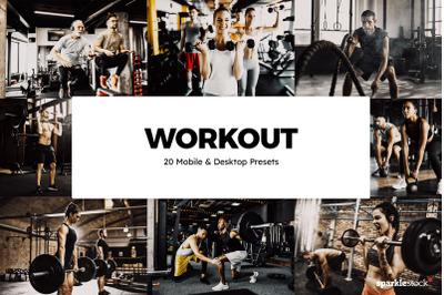 20 Workout Lightroom Presets & LUTs