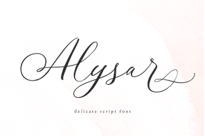 Alysar - Modern Calligraphy Font