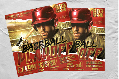 Baseball Playoff Sport Flyer