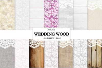 wedding wood lace white