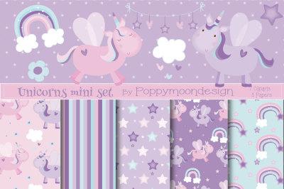 Lilac unicorn mini set