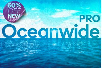 Oceanwide Pro - 18 Fonts Pack