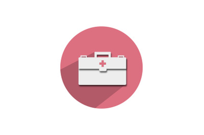 Medical Icon Papercut Isolated Nurse Bag