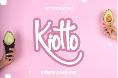 Kiotto Playful Display Font